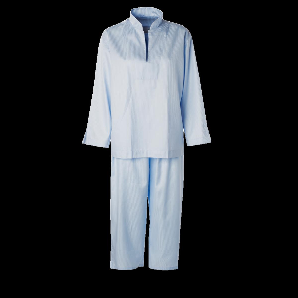 daeab83124cc Dame pyjamas Lyseblå smal strib